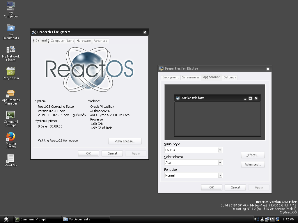 ReactOS Themed