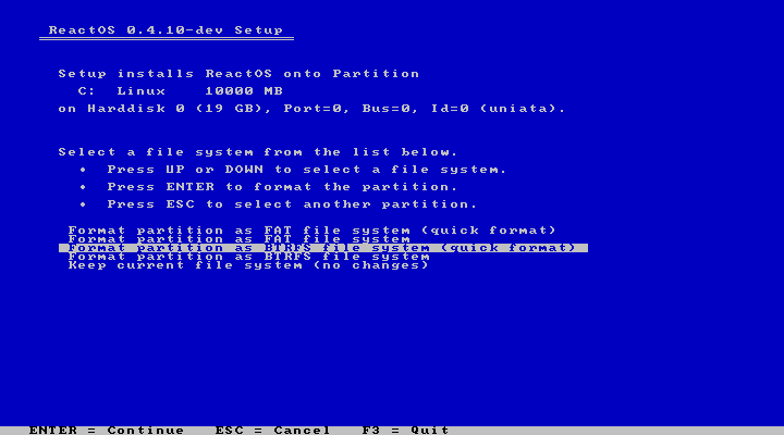Front Page Reactos Project