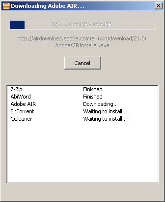 New Download Dialog: ReactOS